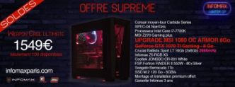 SOLDE sur le PC Weapon Case Ultimate : I7 7700K - GTX 1080 et 16Go de ram