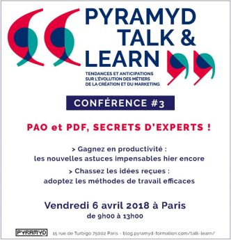 [Agenda] 06 Avril 2018 : PAO et PDF, secrets d'experts