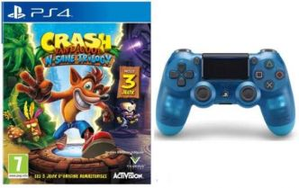Cdiscount : pack Crash Bandicoot N.Sane Trilogy PS4 + manette DualShock 4 bleue à 64,99 €