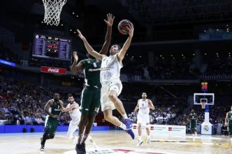Basket - Euroligue (H) - Euroligue : Fabien Causeur porte le Real Madrid face au Panathinaïkos