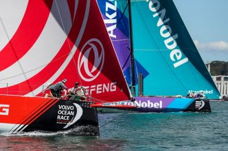 Dongfeng Race Team remporte la New Zealand Herald In-Port Race de Auckland !