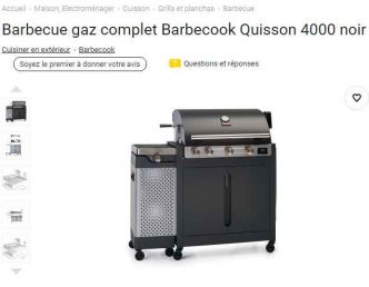 Barbecue Gaz Barbecook Quisson 4000 à 600€