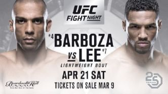 UFC Fight Night 128 - BARBOZA vs LEE - Les Résultats