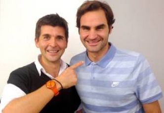 Interview - Quand Thomas Sotto raconte son Roger Federer