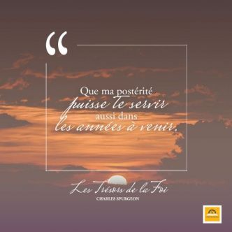 L'alliance atteint les enfants. ( Charles Spurgeon )
