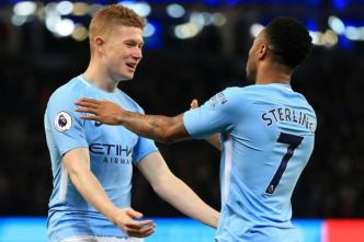 Foot - ANG - City - Raheem Sterling et Kevin De Bruyne (Manchester City) aptes pour le déplacement à Arsenal