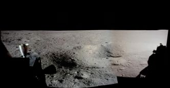 Panorama du site d'atterrissage d'Apollo 11