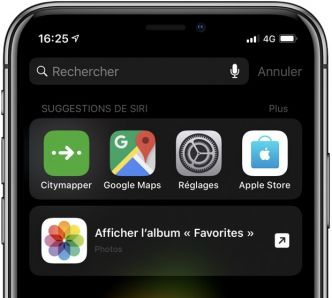 Les raccourcis Siri absents des anciens iPhone