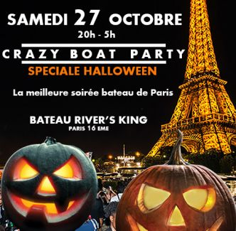 Halloween 2018 Boat Party sur la Péniche Kennedy River's King