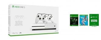 Amazon : pack Xbox One S 1 To + 2 manettes + 3 mois de Game Pass et de Live + Fifa 2019 à 249 €