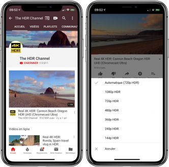 YouTube ajoute le support du HDR pour l'iPhone XS et XS Max