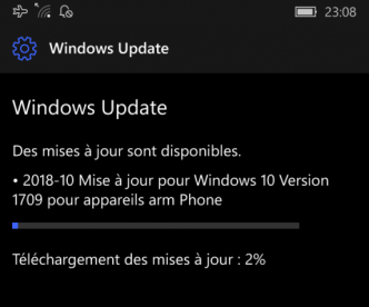 Mise à jour mensuelle de Windows 10 disponible