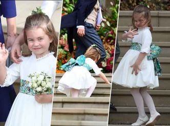 Royal wedding : l'adorable princesse Charlotte trébuche mais ne se démonte pas !