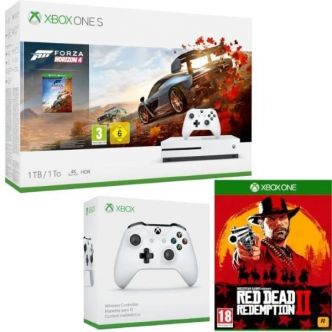 Cdiscount : Xbox One S 1 To Forza + 2e manette + Red Dead Redemption 2 à 260,09 €