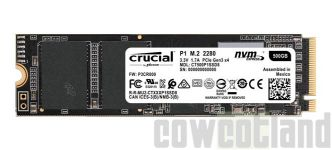 [Cowcotland] Preview SSD NVMe Crucial P1 1000 Go