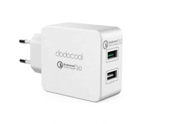 FLASH 5,22€ chargeur double USB Dodocool charge rapide (Quick charge 3.0) – port inclus