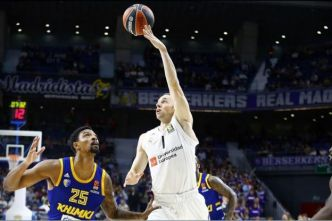 Basket - Euroligue (H) - Euroligue : le Real Madrid s'impose face au Khimki Moscou