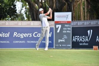 Golf - EPGA - AfrAsia Bank of Mauritius Open 2018 : Victor Perez co-leader