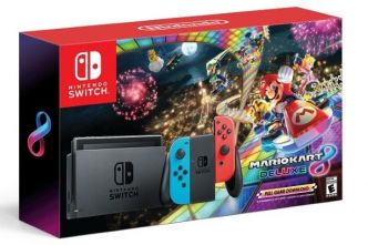Pack Nintendo Switch + Mario Kart 8 Deluxe moins cher à 299,99 €