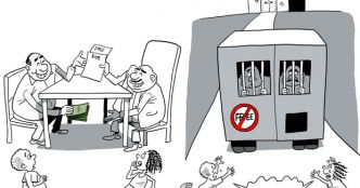 Cartoon by PoV to illustrate African anti-corruption fight
