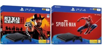 Cdiscount : pack PS4 1 To + 1 jeu (Red Dead Redemption II ou Marvel's Spider-Man) à 249,99 €