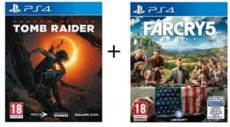 Cdiscount : 2 jeux de PS4 (Shadow of the Tomb Raider + Far Cry 5) à 49,99 €