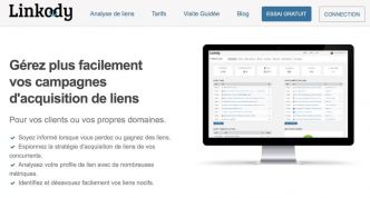 Linkody. Surveillez vos backlinks ou liens entrants