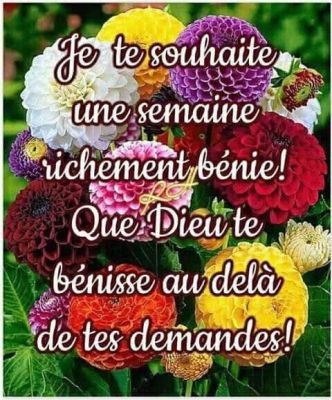 Excellente semaine mes amies (s) en Christ