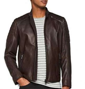 173-200€ le blouson Cuir Hugo Boss Jaysee (349€ sur le site officiel) – Amazon