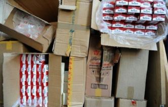 Arrestation de contrebandiers en possession de 46.000 paquets de cigarettes