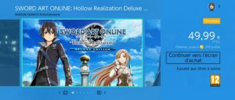 Sword Art Online: Hollow Realization disponible sur Nintendo Switch