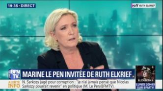 "Marine Le Pen dénonce ""le procès d'intention permanent qu'on fait"" à Donald Trump"