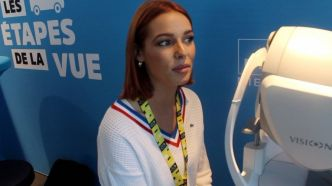 Tour de France  : Quand Miss France testait sa vue chez Krys #MissFrance #MaevaCoucke #Pau #Krys #Opticien