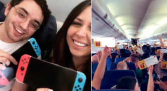 Des Nintendo Switch offertes aux passagers d'un avion