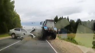 Violent accident sur un tracteur