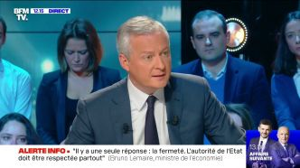 "Violences à Paris: Bruno Le Maire ""appelle les Français à faire bloc"""