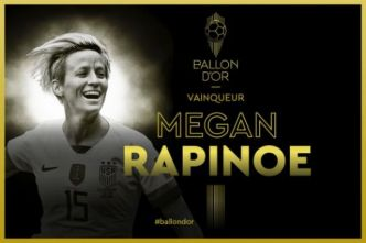 Foot - Ballon d'Or - Ballon d'Or féminin France Football : l'Américaine Megan Rapinoe (Reign FC) sacrée