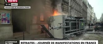 "EN DIRECT - Spéciale Grève - Premiers incidents à Paris en marge du cortège - Plus de 500 black-blocs repérés - La grève à la RATP est reconduite ""jusqu'à lundi"" inclus - 20% des vols [...]"