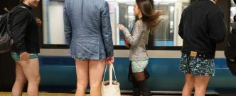 [PHOTOS] «No Pants Subway Ride»: en sous-vêtements dans le métro