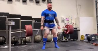 2 X 433 kg au deadlift pour Hafthor Bjornsson – La Montagne de Game of Thrones !