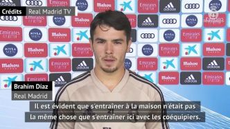Foot - ESP - Real - Brahim Diaz (Real Madrid) : « Gagner nos onze matches restants »