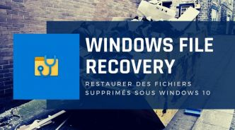 Comment utiliser Windows File Recovery ?