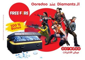 Inédit ! Les Diamants Free Fire chez Ooredoo