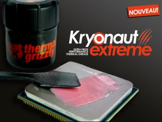 Pour les gourmands, Thermal Grizzly lance la Kryonaut Extreme en pot de 9 mL