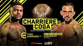 Morgan Charriere vs Max Coga pour la ceinture du Cage Warriors