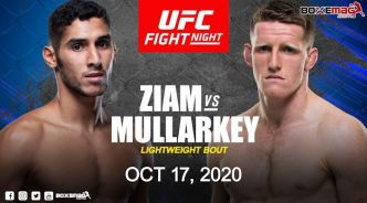 Fares Ziam vs Jamie Mullarkey le 17 octobre à l'UFC on ESPN+ 39