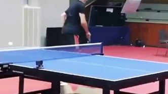 Un point insolite au ping pong