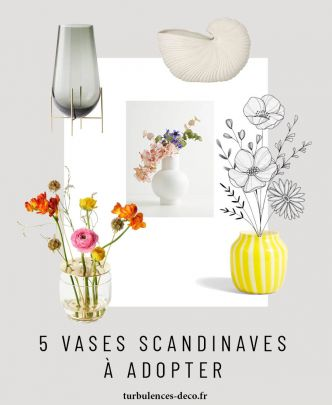 5 vases scandinaves design
