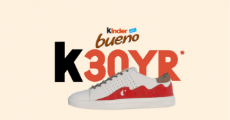 90 Sneakers Kinder Bueno à remporter