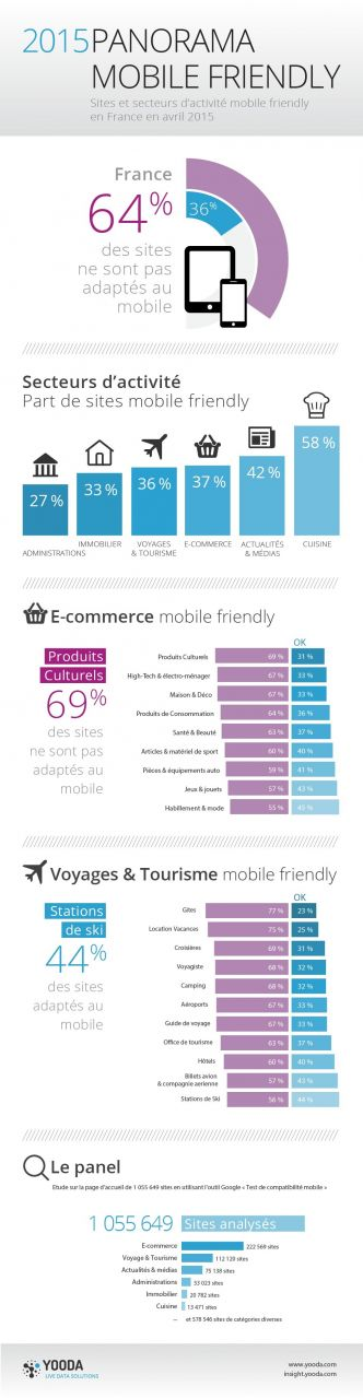 [Infographie] La compatibilité mobile des sites français | Web Marketing & E-commerce